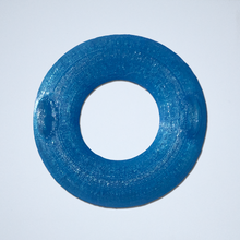 Load image into Gallery viewer, A blue inner tube floatie sticker, 3D printed by Styklet.