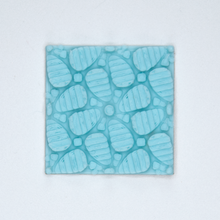 Load image into Gallery viewer, A floral patterned 3D sticker from Styklet in turquoise blue.