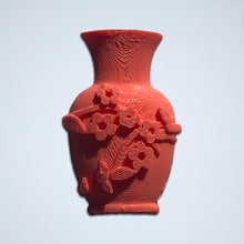 Load image into Gallery viewer, A coral floral vase 3D sticker from Styklet.