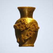Load image into Gallery viewer, A gold floral vase 3D sticker from Styklet.
