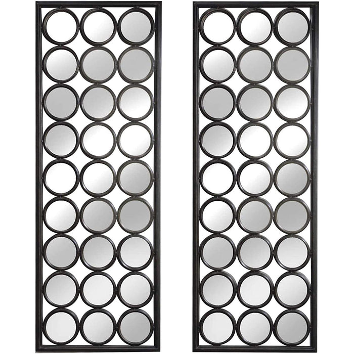 "Red Co. Modern Multi-Mirror Wall Décor, Set of 2 Tall Mirror Frames, 14"" x 40"""