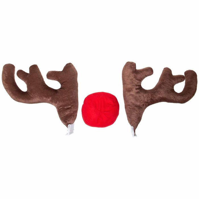 Red Co. Reindeer Antlers Car or Truck Christmas Kit, Extra Large, Extra Sturdy, 17""