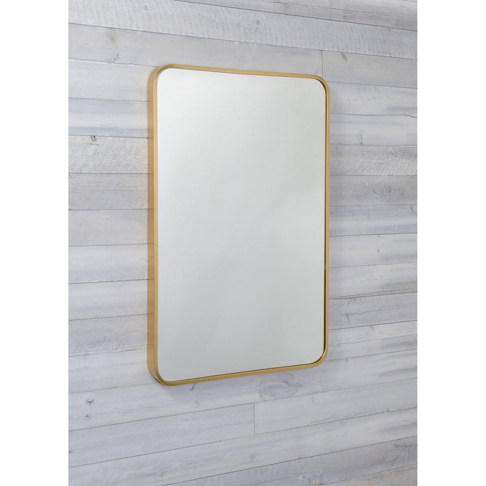 Red Co. Rectangular Wall Accent Mirror with Rounded-Corner Metal Frame, Large