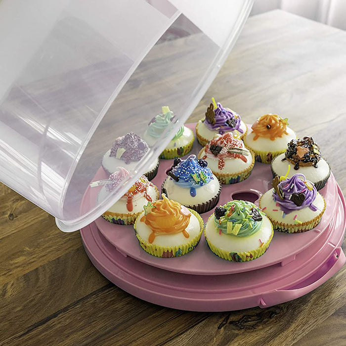 Cake and Cupcake Muffin Carrier Holder with Collapsible Handles - BPA Free