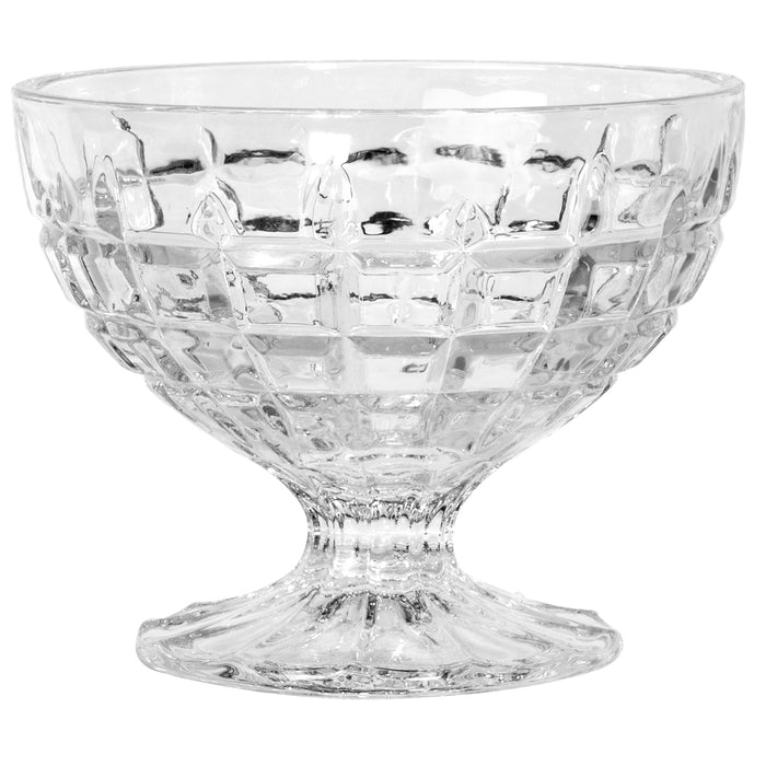 Red Co. Classic Footed Dessert Cups, Premium Crystal Clear Glass Ice Cream Bowls - Perfect for Parfait Fruit Salad or Pudding, Set of 6, 9 Oz