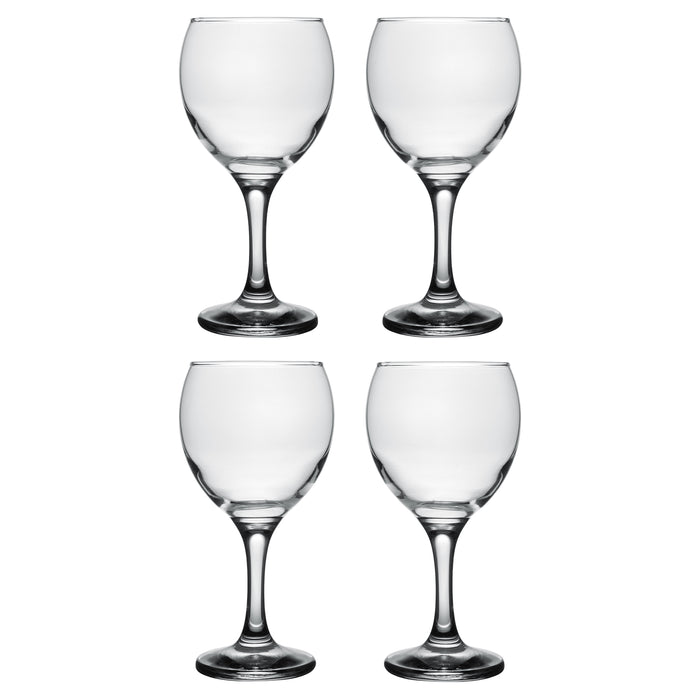 Classic Crystal Clear Stemmed White Wine Glass, 8 Ounce - Set of 6