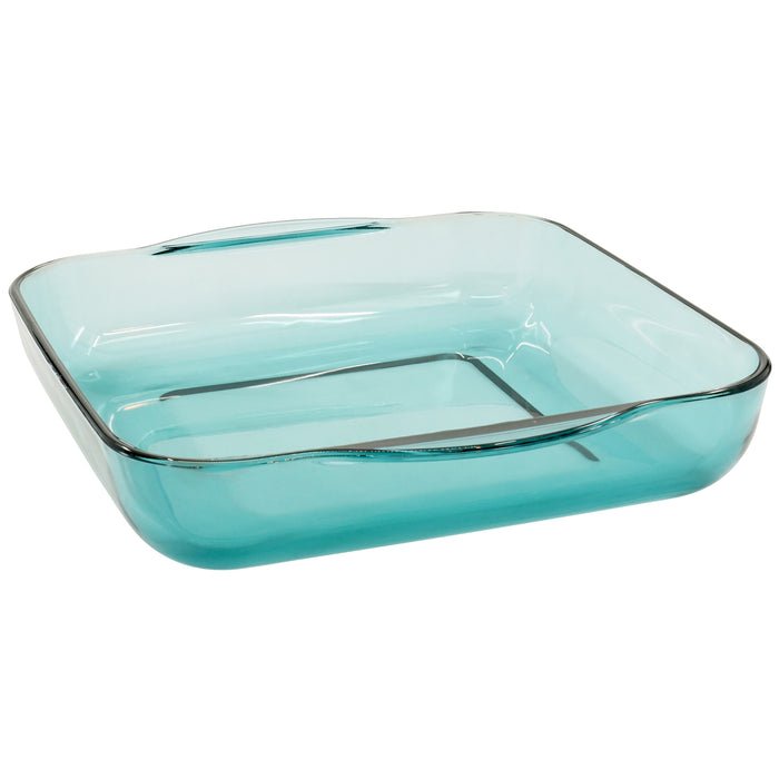 "Red Co. Square Green Clear Glass Casserole Baking Dish, Oven Basics Bakeware — 3.3 Quarts - 11"" x 11"" 2½"""
