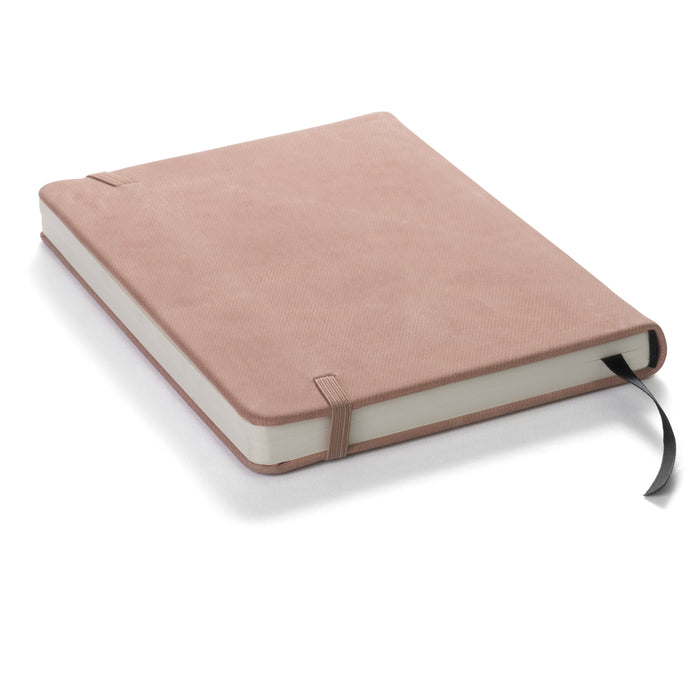 "Red Co. Journal with Embossed Elephant, 120 Pages, 5""x 7"" Lined, Dark Pink"