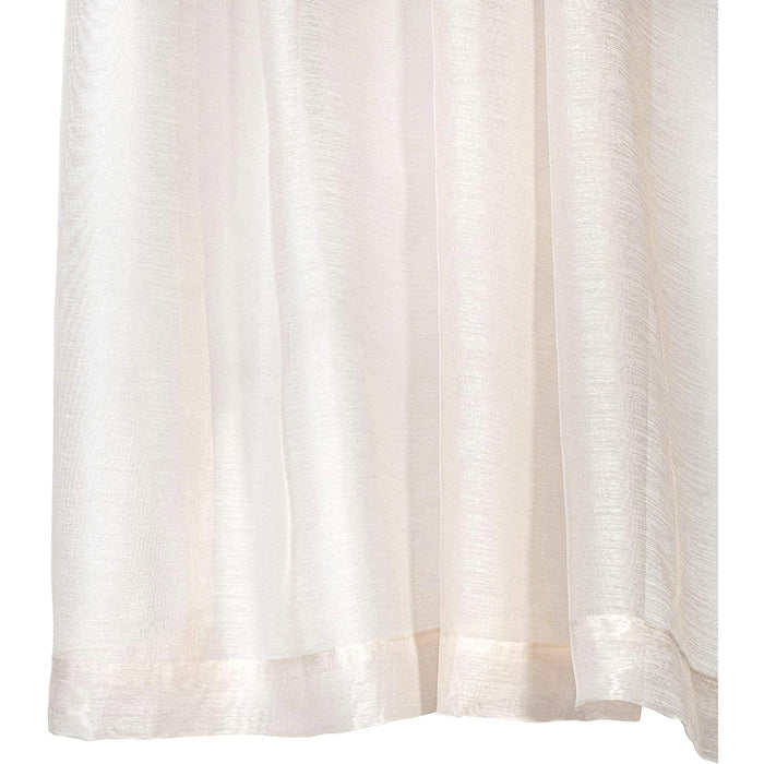 Red Co. Semi Sheer Curtains with Grommets - 2 Panel Set