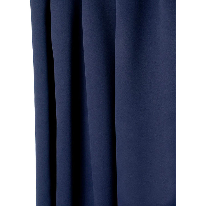 Red Co. Blackout Curtain with Grommets and Rope Tieback - Single Panel
