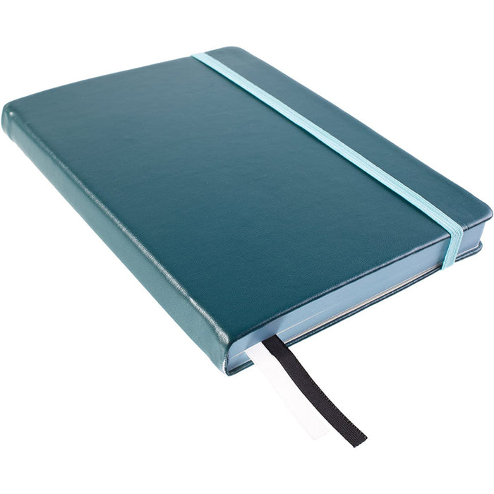 "Red Co. ""Impressions"" Collection Ocean Wave Blue Hardcover Notebook Journal, 240 Pages, 5""x7""- Dotted/Points"
