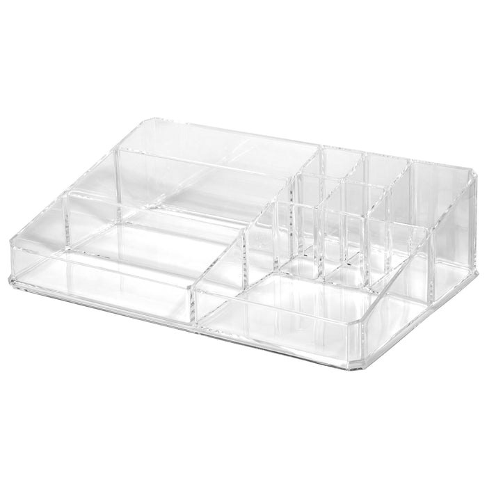 Red Co. Large Premium Quality Crystal Clear Acrylic Countertop Makeup Palette Organizer - Cosmetic Display Case Jewelry Storage Box Tray