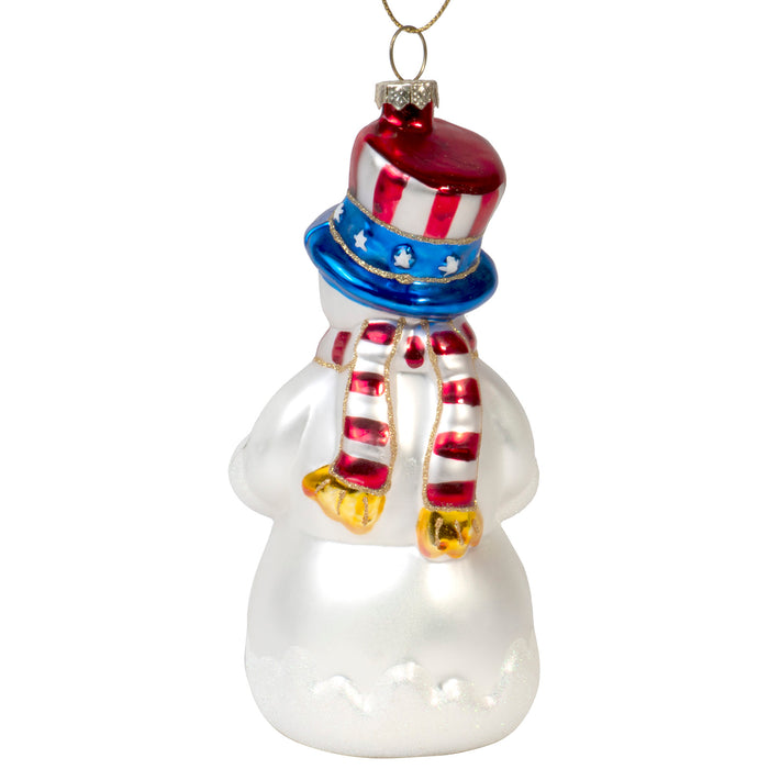 Red Co. Hand Crafted Decorative Glass Christmas Tree Ornaments, God Bless America