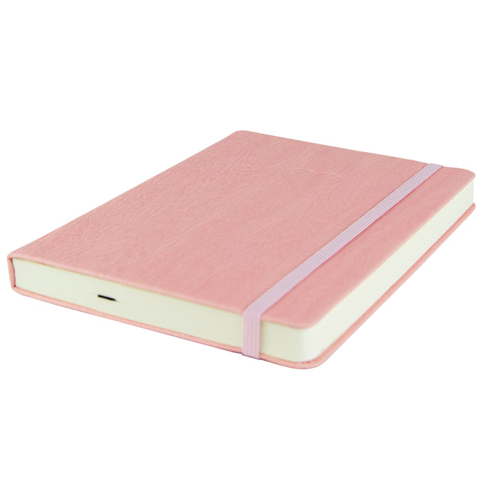 "Red Co. Journal with Embossed Heart, 240 Pages, 5""x 7"" Lined, Pink"