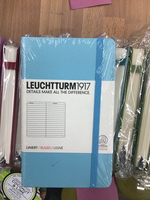 Leuchtturm small aqua ruled