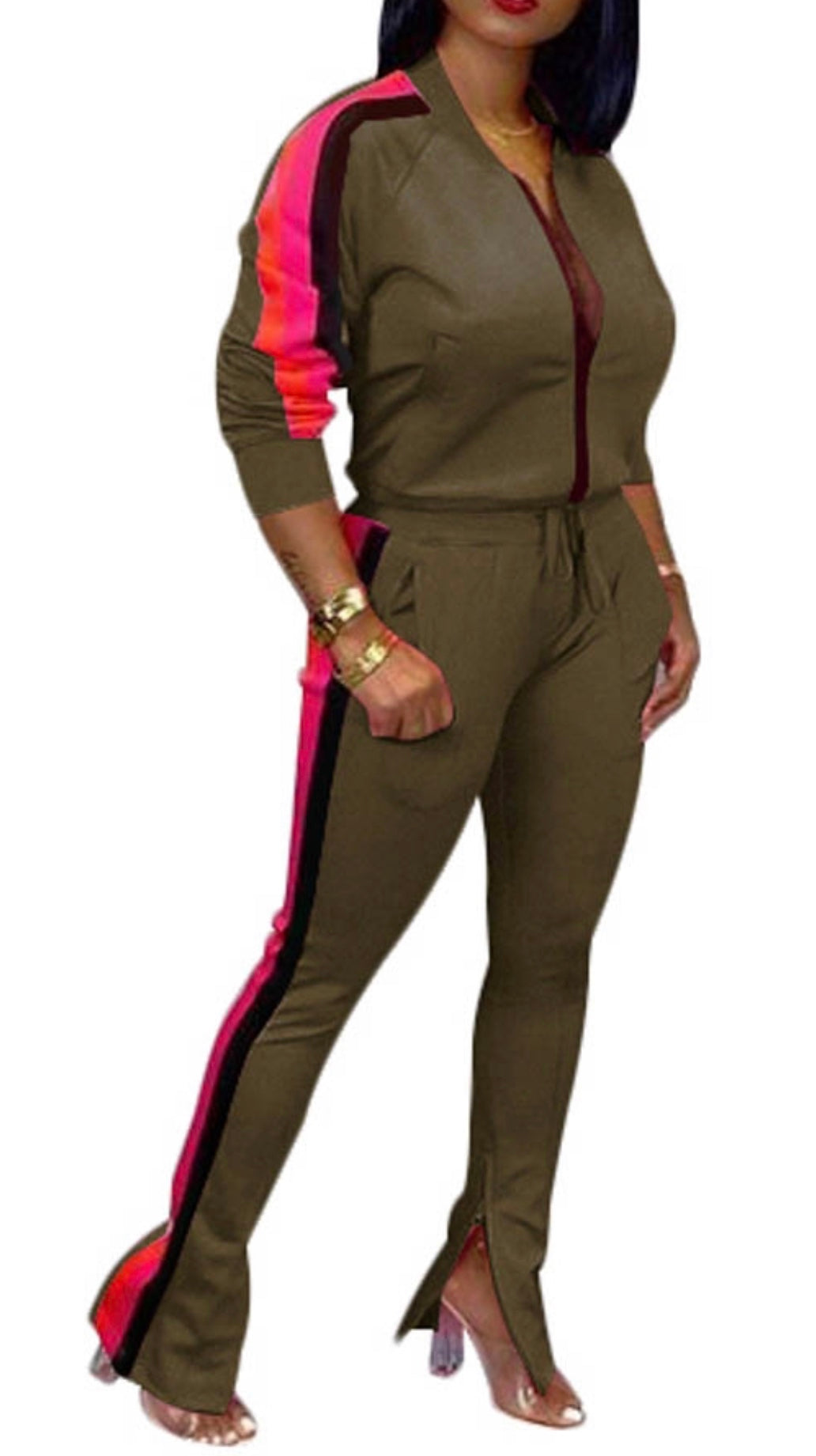 Olive Track suit