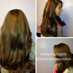 color and highlights hair by destiny