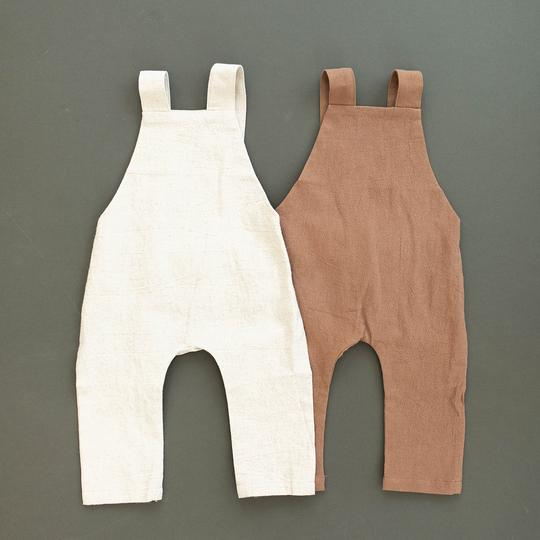 Oatmeal Linen Cotton Overalls