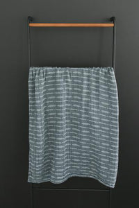 Dusty Blue Horizon Muslin Swaddle