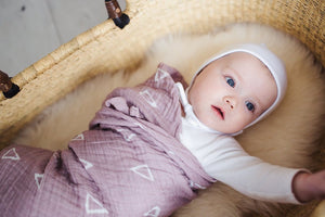 Blush Triangle Muslin Swaddle