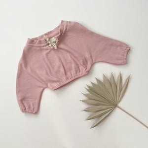 Ribbed Pullover/ Rose