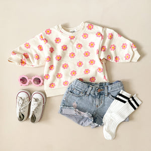 Flower PWR Oversized Sweater