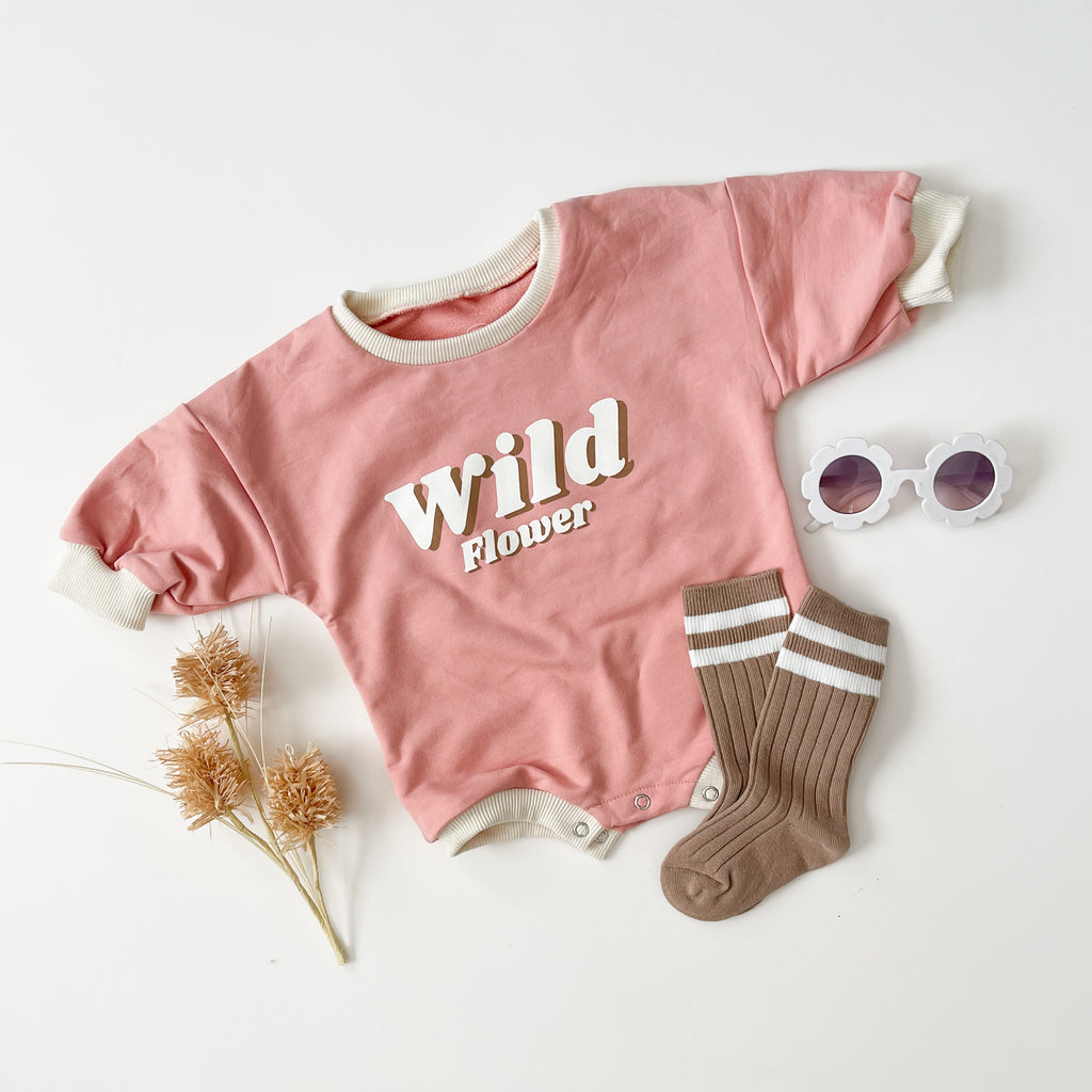 """Wild Flower"" Sweater Romper"