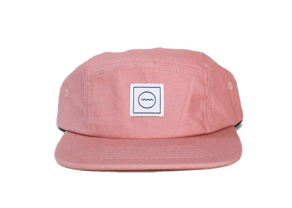 Blush Cotton Five-Panel Hat