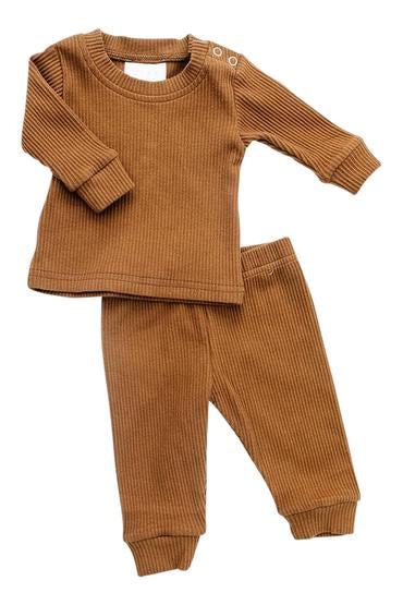 Honey Ribbed Two-Piece Cozy Set