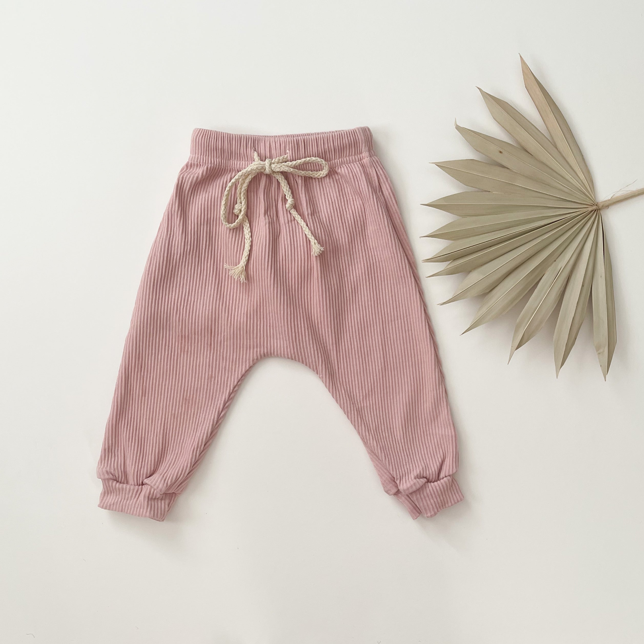 Ribbed Trackies/ Rose