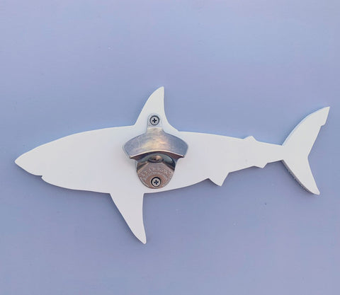 Great White Shark Indoor Outdoor Wall Mount Bottle Opener Shark Gifts