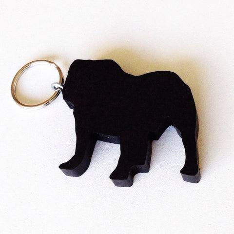 Bulldog Dog Keychain