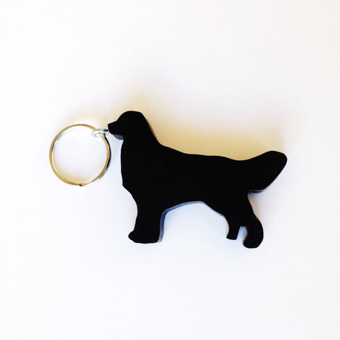 Golden Retriever Dog Keychain