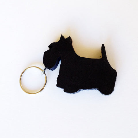 Scottie Scottish Terrier Dog Keychain