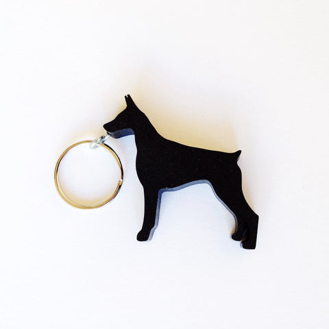 Doberman Dog Keychain