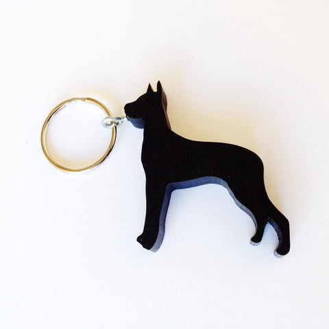 Great Dane Dog Keychain