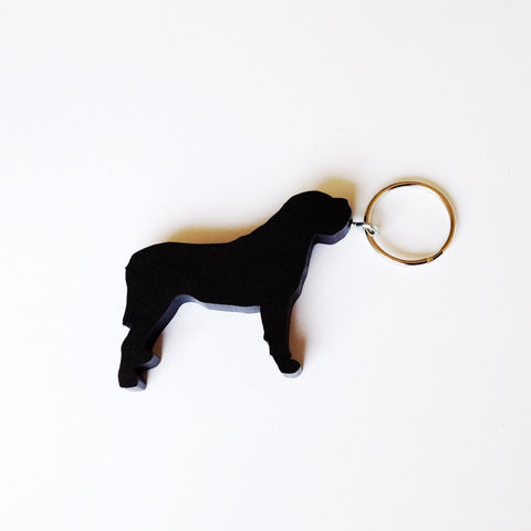 Mastiff Dog Keychain