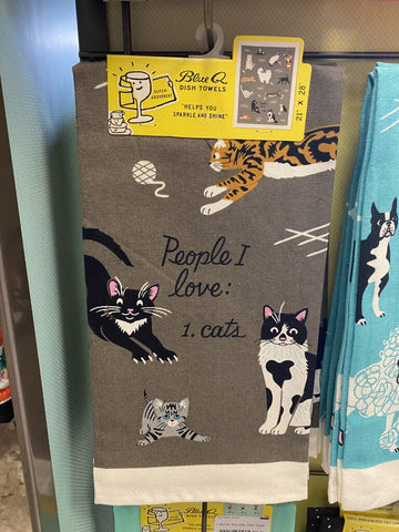 People To Meet Cat Dish Towel