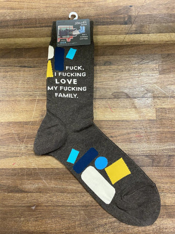 F*cking Love My Family Men's Crew Sock