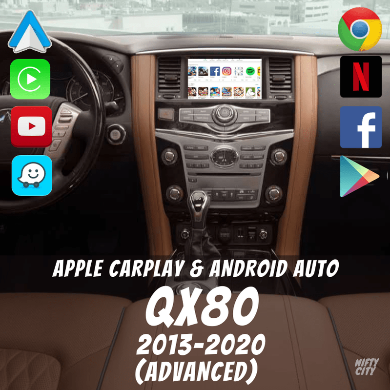 Infiniti QX80 2013-2020 Apple CarPlay & Android Auto Interface (Advanced) - Nifty City