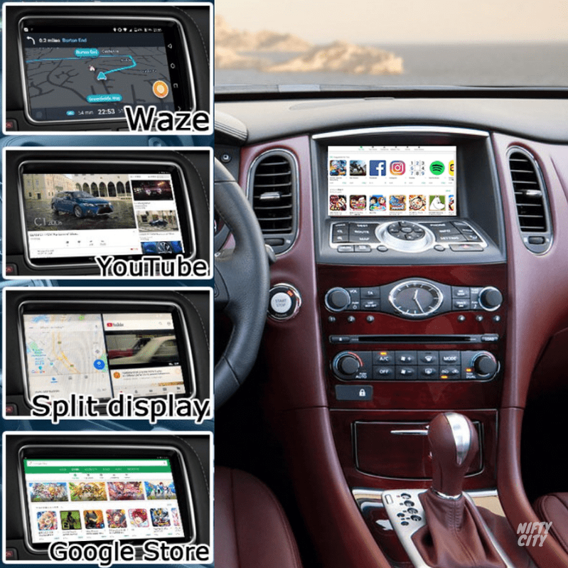 Infiniti EX37 2008-2014 Apple CarPlay & Android Integration (Advanced) - Nifty City