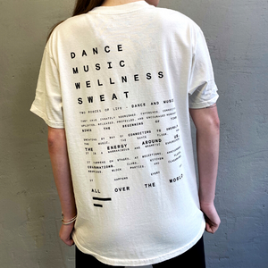 Oversized mantra t-shirt, vintage cotton wash