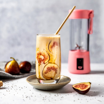 Salted Caramel and Fig Vegan Milkshake
