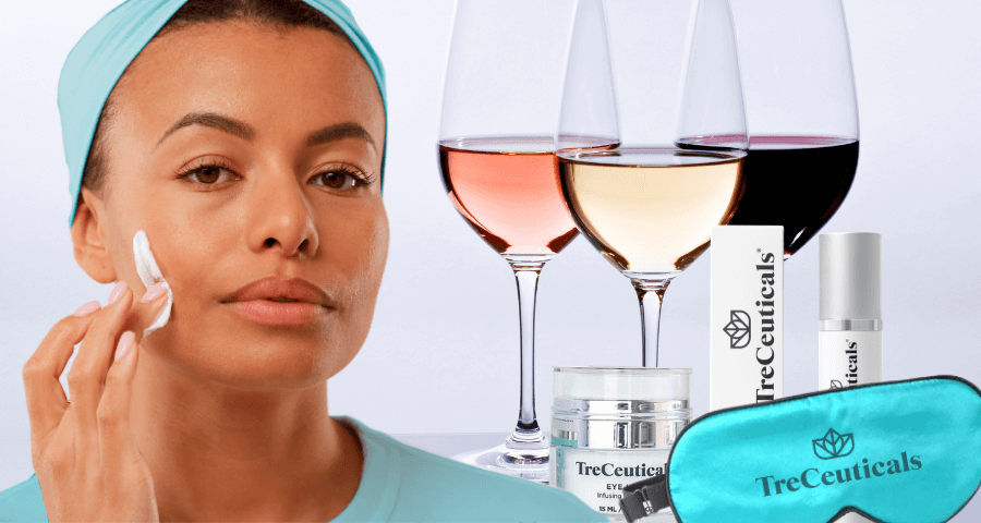 Best skincare tips to treat hangover skin By Treceuticals skincare