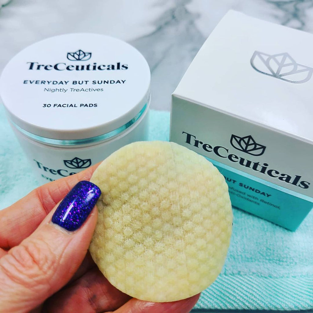 mary kallin beauty review on treceuticals everyday but sunday facial peels