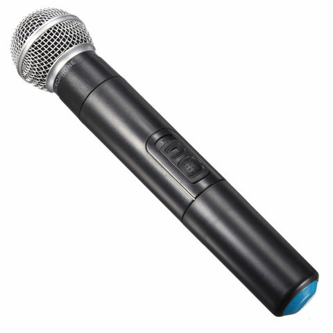 Dual Wireless Microphone System Cordless Handheld Mic Karaoke