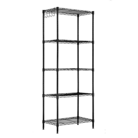 5 Layer Wire Shelving Rack Adjustable Shelf Storage Unit