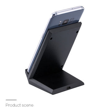 Bakeey 20W Double Coil Fast Qi Wireless Charger Dock Stand For Samsung Huawei