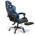 Ergonomic Gaming Chair with Footrest