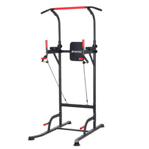 Multifunctional Power Tower Pull Up and Dip Station